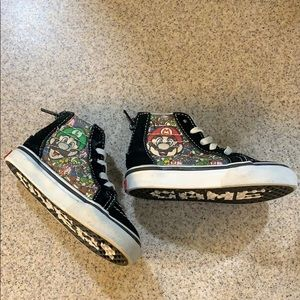 VANS• Mario & Luigi ZIP Up High Tops